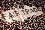 Coffee beans on a jute sack with writing Stock Photo - Premium Royalty-Free, Artist: Robert Harding Images, Code: 659-06153934