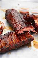rib - Grilled pork ribs Stock Photo - Premium Royalty-Freenull, Code: 659-06154034