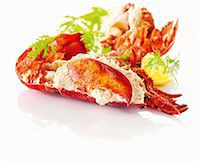 Cooked lobster Stock Photo - Premium Royalty-Freenull, Code: 659-06154269