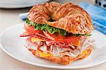Club Sandwich on a Croissant Stock Photo - Premium Royalty-Free, Artist: Cultura RM, Code: 659-06154597