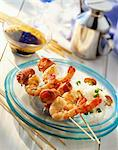 Prawn kebabs with rice Stock Photo - Premium Royalty-Freenull, Code: 659-06155212