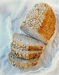 Wholemeal bread, sliced Stock Photo - Premium Royalty-Freenull, Code: 659-06155239