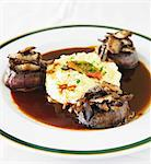 Beef Medallions with Polenta in Shiitake Mushroom Sauce Stock Photo - Premium Royalty-Free, Artist: Aflo Relax, Code: 659-06155446
