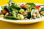 Spinach and sweetcorn salad with tomatoes, cucumber and dill Stock Photo - Premium Royalty-Free, Artist: Cultura RM, Code: 659-06155587