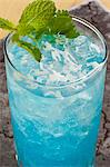 Blue Mojito with Mint Garnish Stock Photo - Premium Royalty-Free, Artist: Photocuisine, Code: 659-06155890