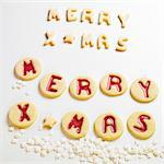 MERRY XMAS biscuits Stock Photo - Premium Royalty-Freenull, Code: 659-06155935