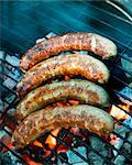 Sausages on a grill Stock Photo - Premium Royalty-Freenull, Code: 659-06156052