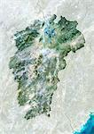Satellite view of the province of Jiangxi, China. This image was compiled from data acquired by LANDSAT 5 & 7 satellites. Stock Photo - Premium Rights-Managed, Artist: Universal Images Group, Code: 872-06160575