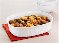 spicy - Dish of meatball and potatoes Stock Photo - Premium Royalty-Freenull, Code: 649-06164348