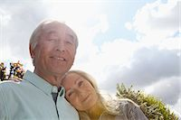 Older couple standing outside together Stock Photo - Premium Royalty-Freenull, Code: 649-06164493