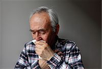 people coughing or sneezing - Older man coughing into napkin Stock Photo - Premium Royalty-Freenull, Code: 649-06164529