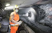 supervising - Coal miner working in mine Stock Photo - Premium Royalty-Freenull, Code: 649-06164913