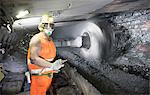 Coal miner working in mine Stock Photo - Premium Royalty-Free, Artist: Robert Harding Images, Code: 649-06164913