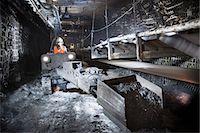 Coal miner working in mine Stock Photo - Premium Royalty-Freenull, Code: 649-06164916