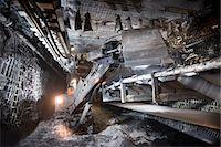 Coal miner working in mine Stock Photo - Premium Royalty-Freenull, Code: 649-06164917