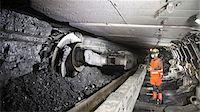 Coal miner working in mine Stock Photo - Premium Royalty-Freenull, Code: 649-06164926