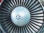 Close up of still jet airplane engine Stock Photo - Premium Royalty-Free, Artist: Blend Images, Code: 649-06164999