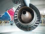 Close up of still jet airplane engine Stock Photo - Premium Royalty-Free, Artist: Andrew Kolb, Code: 649-06165002