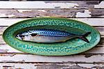 Close up of mackerel on plate Stock Photo - Premium Royalty-Free, Artist: Cultura RM, Code: 649-06165125