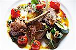 Plate of lamb cutlets with tomatoes Stock Photo - Premium Royalty-Free, Artist: Yvonne Duivenvoorden, Code: 649-06165126