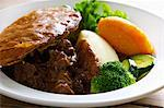Plate of steak and kidney pie Stock Photo - Premium Royalty-Free, Artist: Photocuisine, Code: 649-06165133