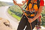 Climbers carabiners and bungee cord Stock Photo - Premium Royalty-Free, Artist: Ascent Xmedia, Code: 649-06165272