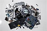 Pile of smashed computer parts Stock Photo - Premium Royalty-Free, Artist: oliv, Code: 649-06165311