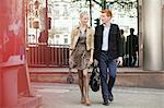 Couple walking on a footpath Stock Photo - Premium Royalty-Free, Artist: Siephoto, Code: 6108-06166073