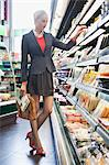 Woman shopping in a supermarket Stock Photo - Premium Royalty-Free, Artist: Beth Dixson, Code: 6108-06166154