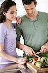 Couple cooking in the kitchen Stock Photo - Premium Royalty-Freenull, Code: 6108-06166397