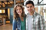 Portrait of a couple smiling Stock Photo - Premium Royalty-Free, Artist: David & Micha Sheldon, Code: 6108-06166511