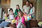 Family celebrating Mother's Day party at home Stock Photo - Premium Royalty-Free, Artist: Dana Hursey, Code: 6108-06167513