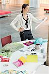 Female fashion designer working in an office Stock Photo - Premium Royalty-Free, Artist: Cultura RM, Code: 6108-06168255