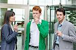 Business executives smoking in front of an office building Stock Photo - Premium Royalty-Free, Artist: Beth Dixson, Code: 6108-06168281