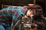 Drunk man slumped on bar asleep Stock Photo - Premium Royalty-Free, Artist: Strauss/Curtis, Code: 614-06168758