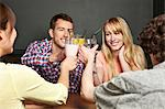 Friends toasting with soft drinks Stock Photo - Premium Royalty-Free, Artist: Blend Images, Code: 614-06168767