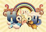 Be Happy illustration Stock Photo - Premium Royalty-Free, Artist: Garreau Designs, Code: 614-06168944
