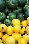 Round yellow and green courgettes Stock Photo - Premium Royalty-Free, Artist: Cultura RM, Code: 614-06169178