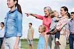 Group of people outdoors, focus on senior woman and family Stock Photo - Premium Royalty-Free, Artist: Eyecandy Pro, Code: 614-06169609