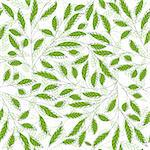 Leaf floral abstract seamless vector background. Art  pattern. Fabric texture vintage design. Pretty cute wallpaper filigree tile. Stock Photo - Royalty-Free, Artist: svetap                        , Code: 400-06170459