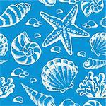 Beach theme seamless background 2 - vector illustration. Stock Photo - Royalty-Free, Artist: clairev                       , Code: 400-06170525