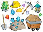 Mining theme collection 1 - vector illustration. Stock Photo - Royalty-Free, Artist: clairev                       , Code: 400-06170535