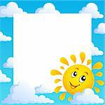 Sun theme frame 1 - vector illustration. Stock Photo - Royalty-Free, Artist: clairev                       , Code: 400-06170540