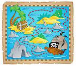 Treasure map theme image 3 - vector illustration. Stock Photo - Royalty-Free, Artist: clairev                       , Code: 400-06170547