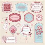 Set of vintage labels and elements for print design and web Stock Photo - Royalty-Free, Artist: tanjakrstevska                , Code: 400-06170567