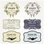 Set of olive oil vintage labels template Stock Photo - Royalty-Free, Artist: tanjakrstevska                , Code: 400-06170571
