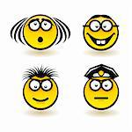 Cartoon faces. Set of second. Illustration of designer on white background Stock Photo - Royalty-Free, Artist: dvarg                         , Code: 400-06170627