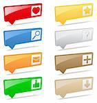 Vector 3D pointers with icons Stock Photo - Royalty-Free, Artist: _human                        , Code: 400-06171211