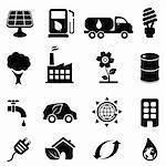 Eco and environment icon set Stock Photo - Royalty-Free, Artist: soleilc                       , Code: 400-06171386