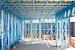 New home under construction using steel frames Stock Photo - Royalty-Free, Artist: LevKr                         , Code: 400-06172795